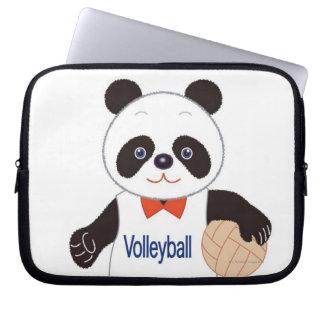 Panda Volleyball Player Laptop Sleeve