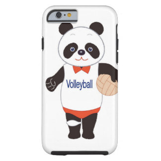 Panda Volleyball Player Tough iPhone 6 Case