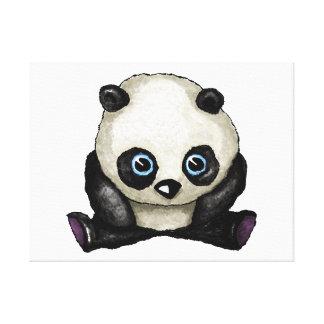 Panda Watercolour Canvas Print