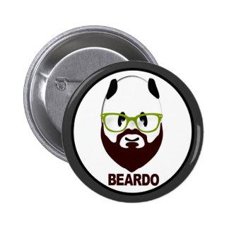Panda wearing green glasses BEARDO 6 Cm Round Badge