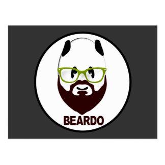 Panda wearing green glasses BEARDO Postcard