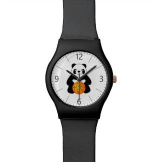 Panda with a basketball ball wrist watches