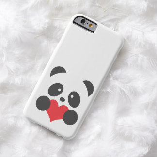 Panda with a heart barely there iPhone 6 case
