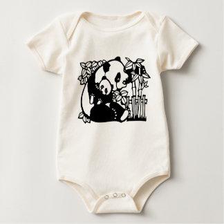 Panda with baby baby bodysuit