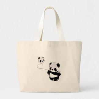 Panda With Balloon Tote Bag