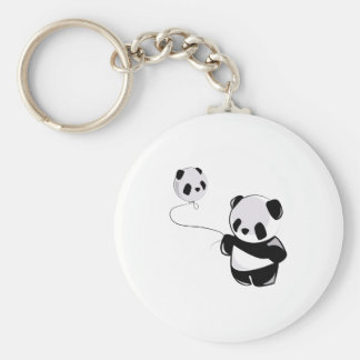 Panda With Balloon Keychains