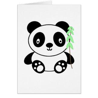 Panda with Bamboo Card