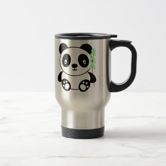 Panda with Bamboo Travel Mug