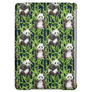 Panda With Bamboo Watercolor Pattern