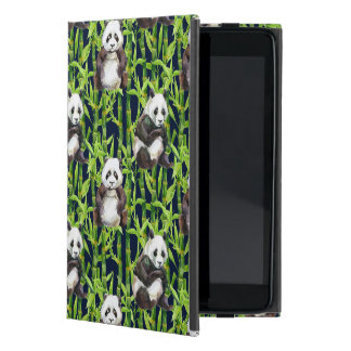 Panda With Bamboo Watercolor Pattern Cases For iPad Mini