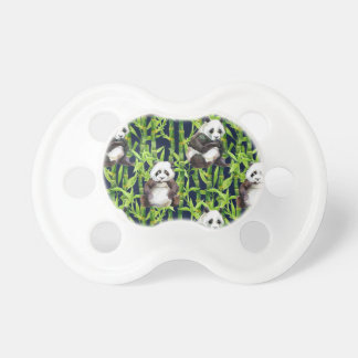 Panda With Bamboo Watercolor Pattern Dummy