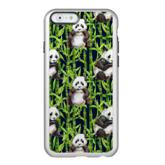 Panda With Bamboo Watercolor Pattern Incipio Feather® Shine iPhone 6 Case
