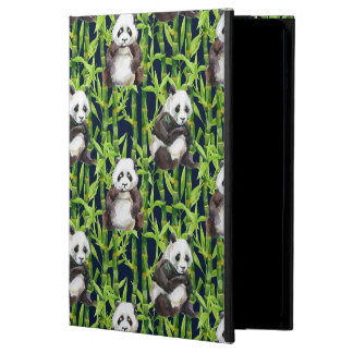 Panda With Bamboo Watercolor Pattern iPad Air Cover