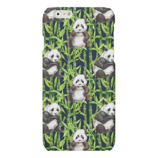 Panda With Bamboo Watercolor Pattern iPhone 6 Plus Case