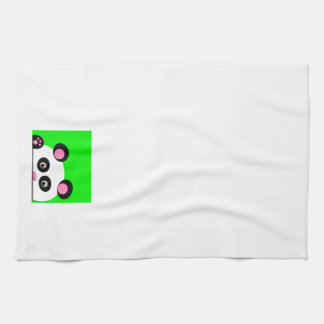 Panda with Green Background Hand Towel