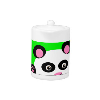 Panda with Green Background