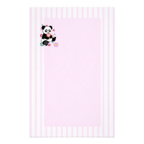 Panda with lollipop stationery