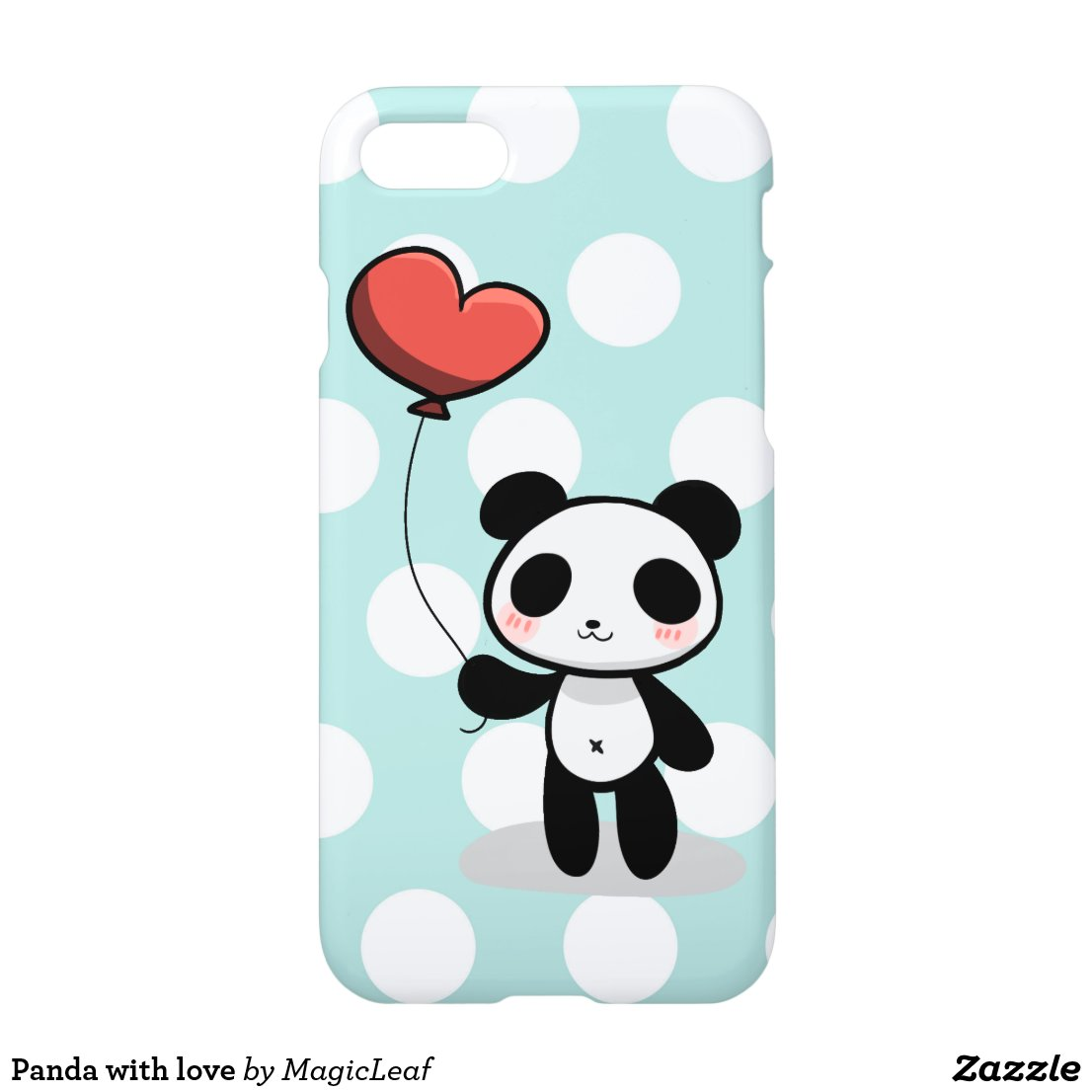 Panda with love iPhone Case