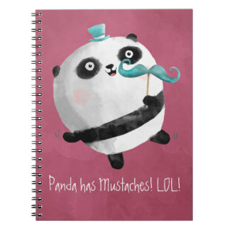Panda with Mustaches Notebook