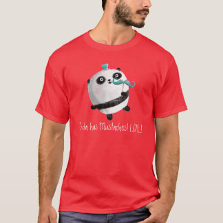 Panda with Mustaches T-Shirt