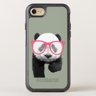 Panda with Pink Glasses Cute Funny Phone OtterBox Symmetry iPhone 7 Case
