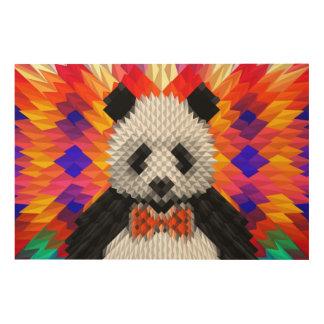 Panda Wood Canvas