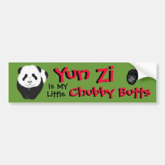 pandacub, paw copy, Yun Zi, Yun Zi, Chubby Butt... Bumper Sticker