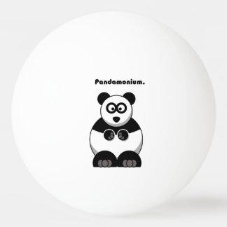 Pandamonium Panda Cartoon Ping Pong Ball