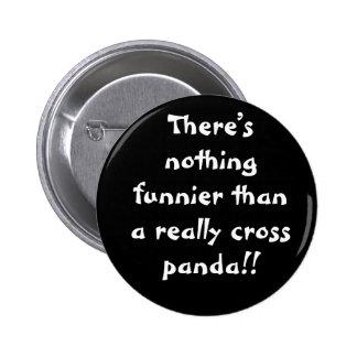 Pandas 6 Cm Round Badge