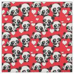 Pandas and Hearts Valentine Fabric