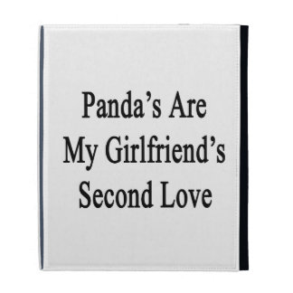 Panda's Are My Girlfriend's Second Love iPad Folio Case