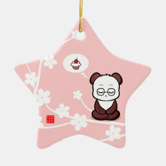Panda's Attachment Ceramic Star Decoration