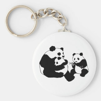 Pandas Basic Round Button Key Ring