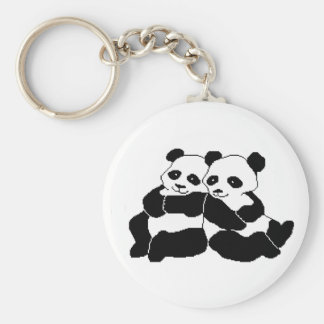 Pandas Basic Round Button Key Ring