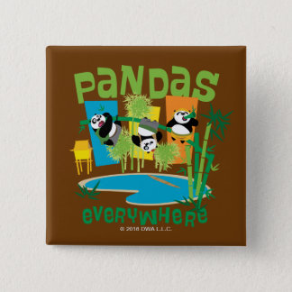 Pandas Everywhere 15 Cm Square Badge