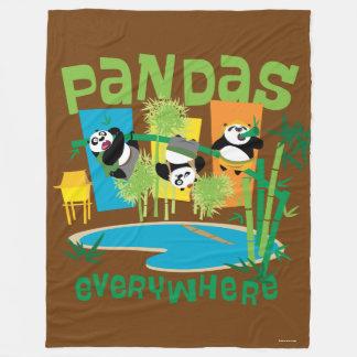 Pandas Everywhere Fleece Blanket