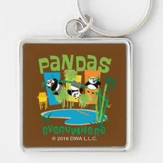Pandas Everywhere Key Ring