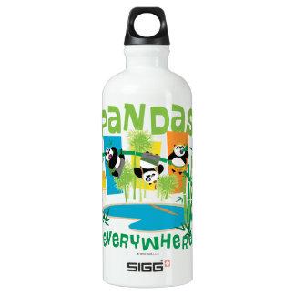 Pandas Everywhere Water Bottle