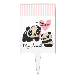 Pandas I Love My Aunt Cake Toppers