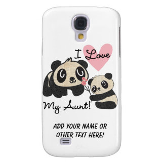 Pandas I Love My Aunt Samsung Galaxy S4 Cover