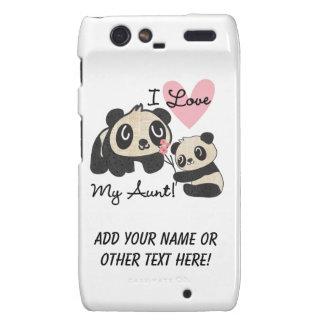 Pandas I Love My Aunt Motorola Droid RAZR Covers
