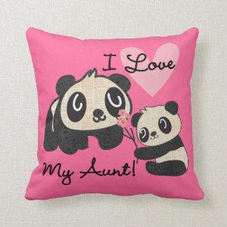 Pandas I Love My Aunt Pillows