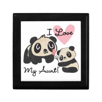 Pandas I Love My Aunt Gift Box