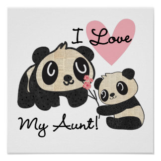 Pandas I Love My Aunt Print