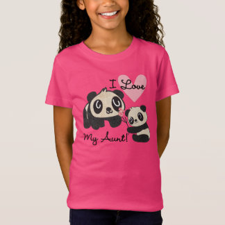 Pandas I Love My Aunt T-Shirt