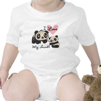 Pandas I Love My Aunt Shirt