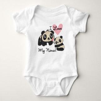 Pandas I Love My Nana Baby Bodysuit