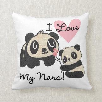 Pandas I Love My Nana Throw Pillow