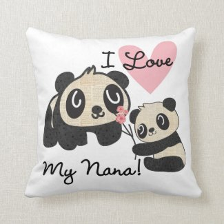 Pandas I Love My Nana Cushion
