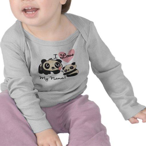 Pandas I Love My Nana Tee Shirt